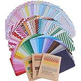(10*6.5cm) 81 fogli Adesivi Etichette Adesive Masking Tape Sticker Decorazioni Scrapbooking Diario Agenda Biglietti Bomboniere Cottura Chiudi Pacco