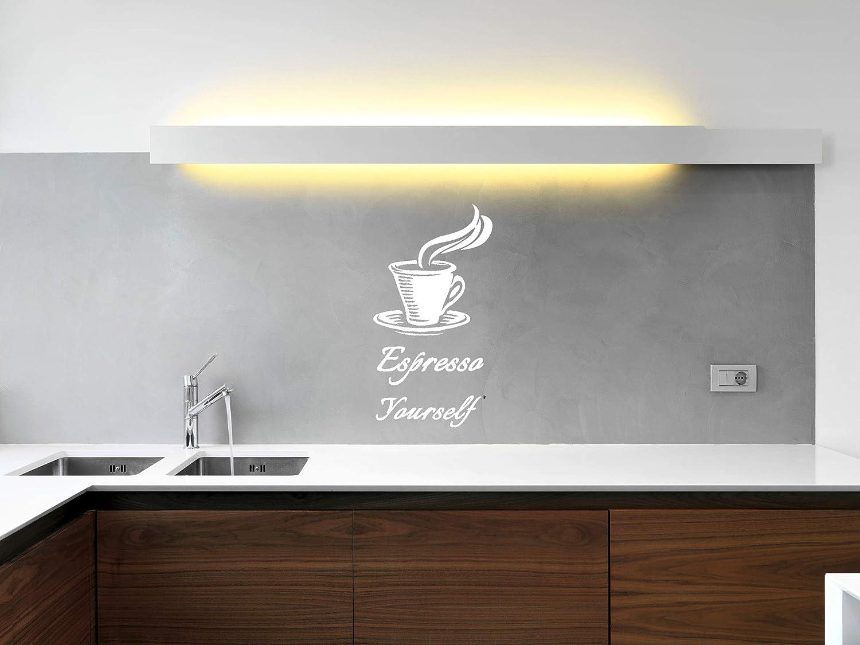 blanc Stickers muraux fantaisie cuisine espresso Yourself caf/é pour cuisine amusante pour toute la famille