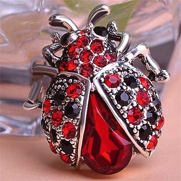 Amazon.com: Vintage catarina roja broches para mujer traje ...