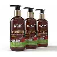 Wow Organics Apple Cider Vinegar Shampoo, 300ml (Pack of 3)