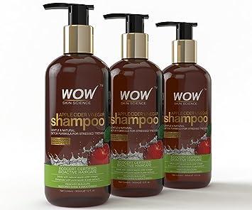 Buy Wow Organics Apple Cider Vinegar Shampoo, 300ml (Pack of 3