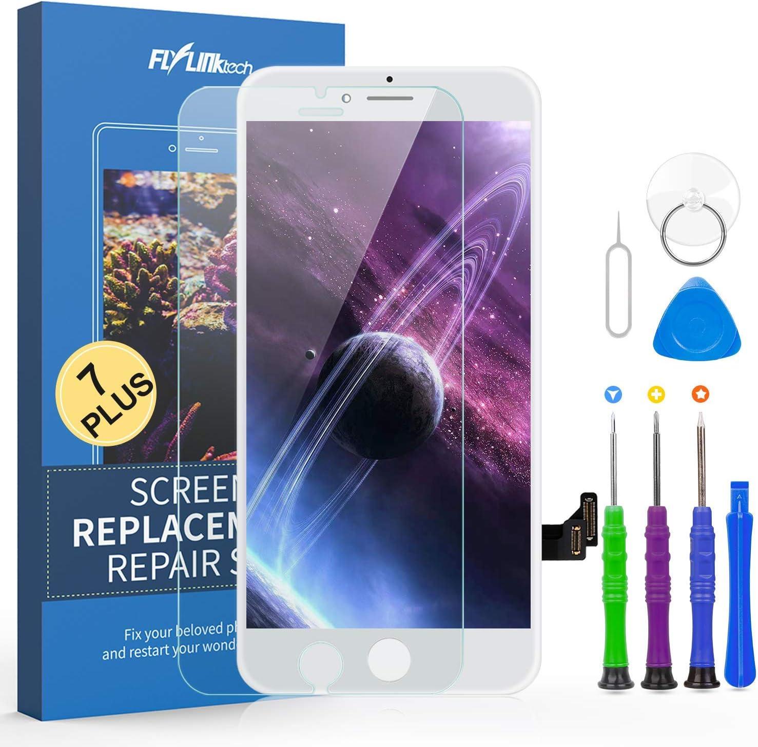 FLYLINKTECH Pantalla Táctil LCD Reemplazo para iPhone 7 Plus Blanco 5.5
