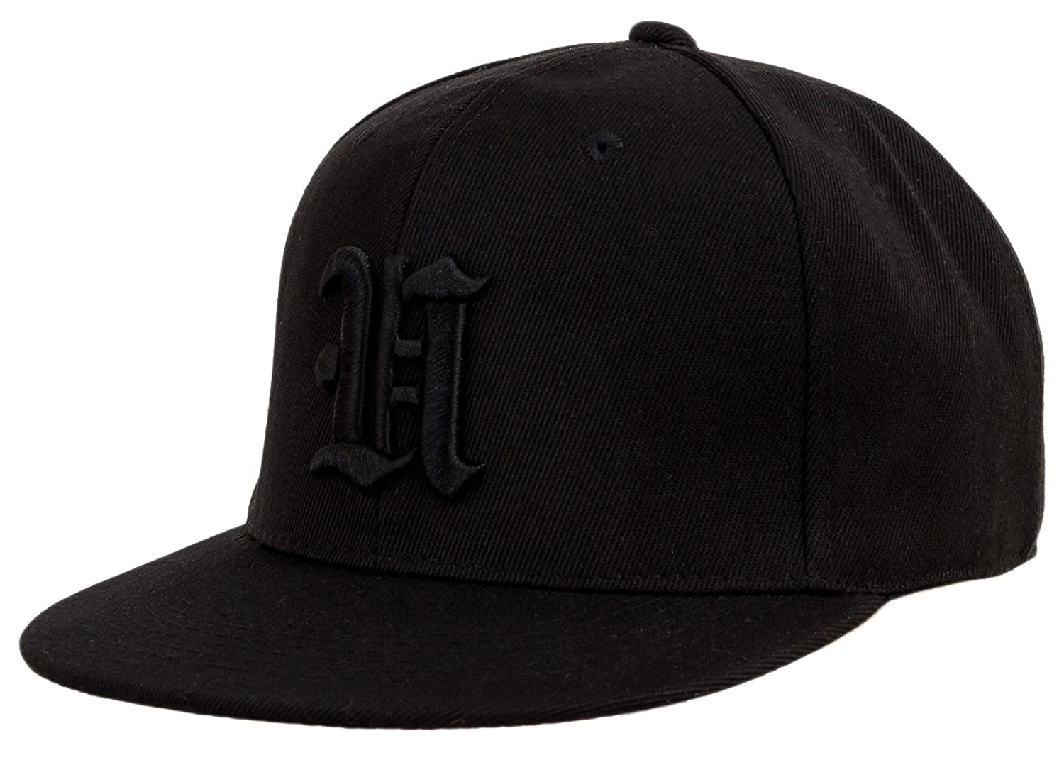 4sold Kids Snapback Hat With Raised 3D Black Embroidery Letter Baseball Cap Hip-Hop Cap Hat Headwear