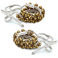 Prisha India Craft Kathak Ghungroo Pair, (25+25) (16 No. Ghungroo) Big Bells Tied with Cotton Cord Indian Classical…