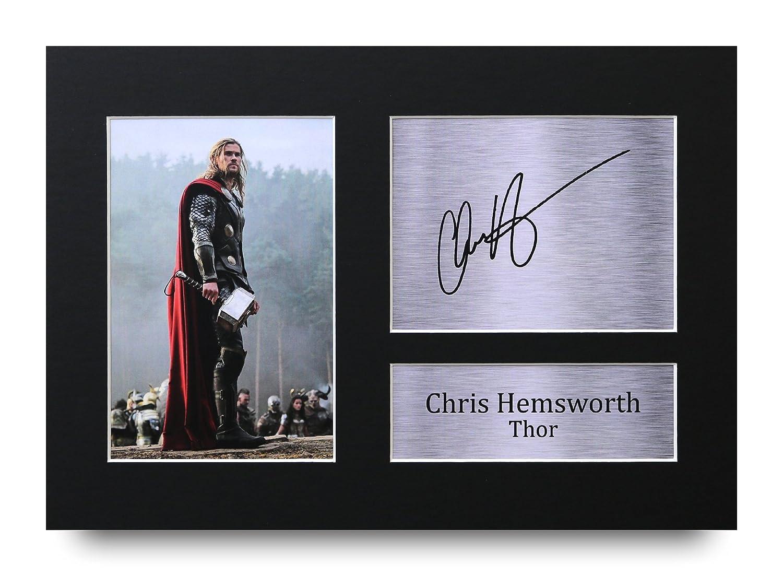 HWC Trading Chris Hemsworth Geschenke Unterzeichneten A4 Gedrucktes Autogramm Thor The Avengers Druck-Foto-Bilderanzeige