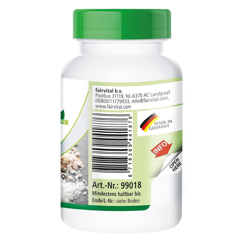 fairvital - 180 comprimidos de yodo - Altamente concentrado (150 µg) - De yoduro de potasio: Amazon.es: Salud y cuidado personal