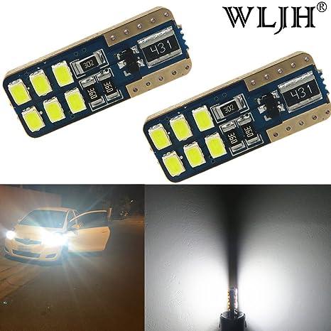 wljh 2x 194 T10 LED luz bombilla nueva coreano LG 3020SMD 168 2825 W5W Cuña repuesto ...