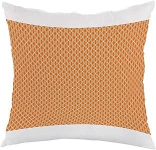 decoration Printed Pillow, white velvet Fabric 40X40 cm