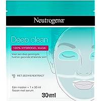 Neutrogena Deep Clean Hydrogel Mask, Hydrogelmasker met zeewierextract en 100% hydrogel voor een diep gereinigde huid en…