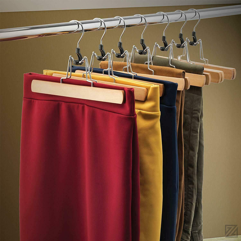 Amazon.com: MB-THISTAR - Perchas de madera para pantalones ...