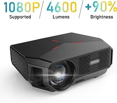 Proyector, 4600 Lúmenes Proyector Full HD Soporta 1920 x 1080P ...