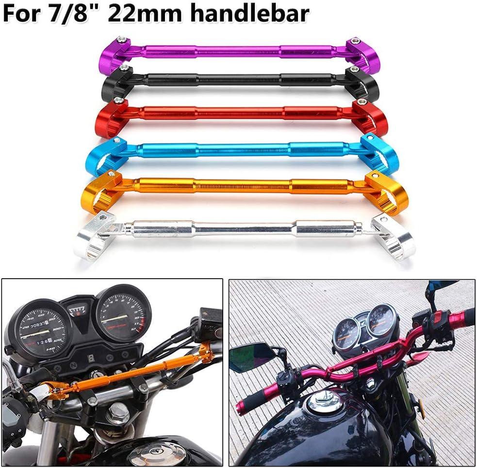 Universal 7//8 /″ 22mm Manillar de la motocicleta Moto Pu/ños Manillar Aleaci/ón de aluminio Abrazadera y abrazadera Barra transversal ajustable