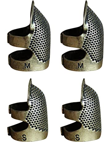 Ajustable metal de coser dedal dedo escudo protector PIN agujas acolchar artesanía accesorios bricolaje herramientas de
