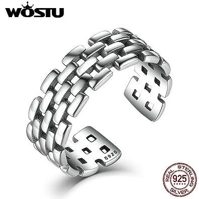 258871a1d8b3 slyq joyas plata de ley 925 Aliexpress apilamiento abierto dedo anillos  para las mujeres hombres Punk estilo  Amazon.es  Joyería