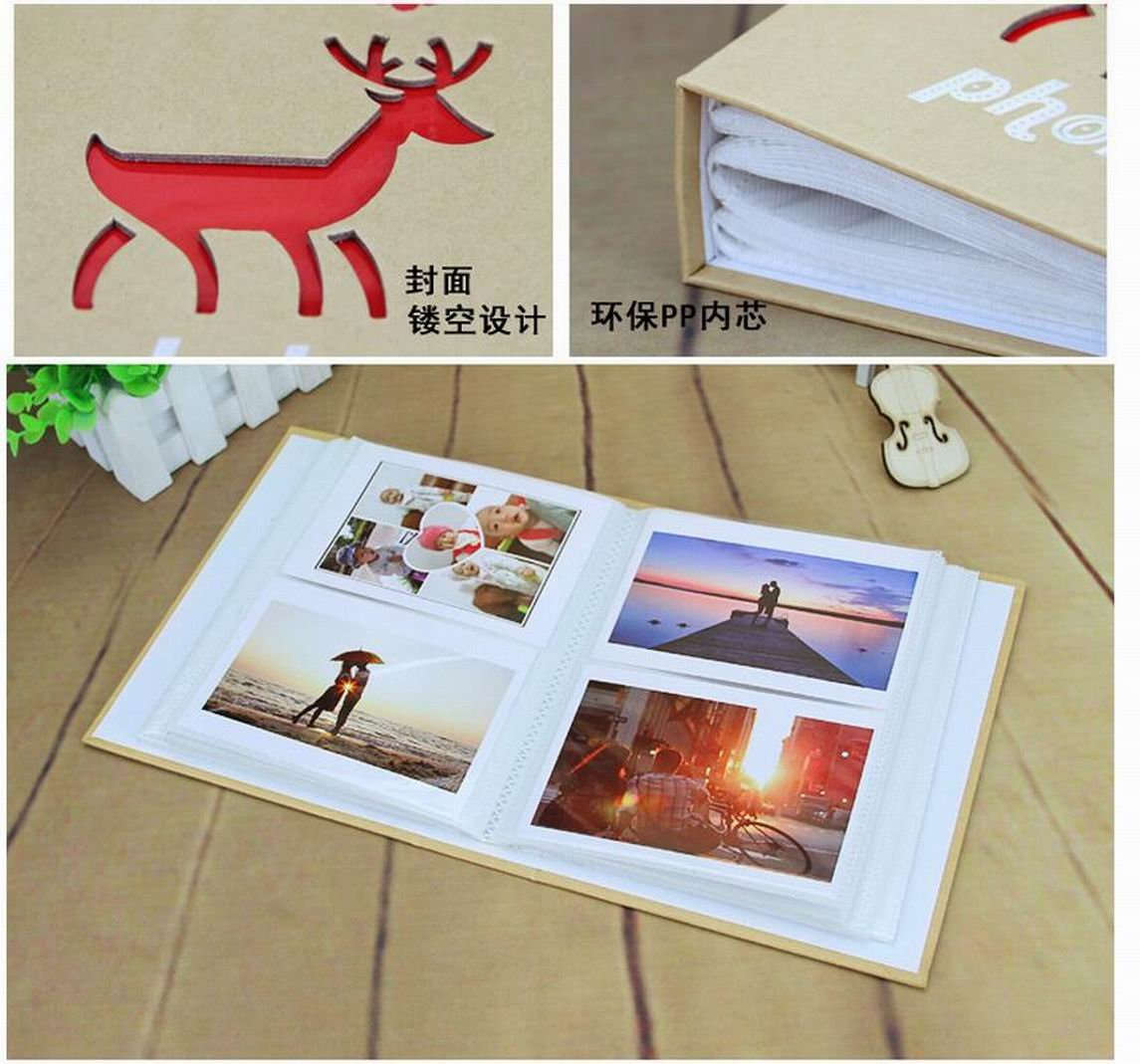 WEI LONG Photo Album Hold 200 Pockets, 3.5