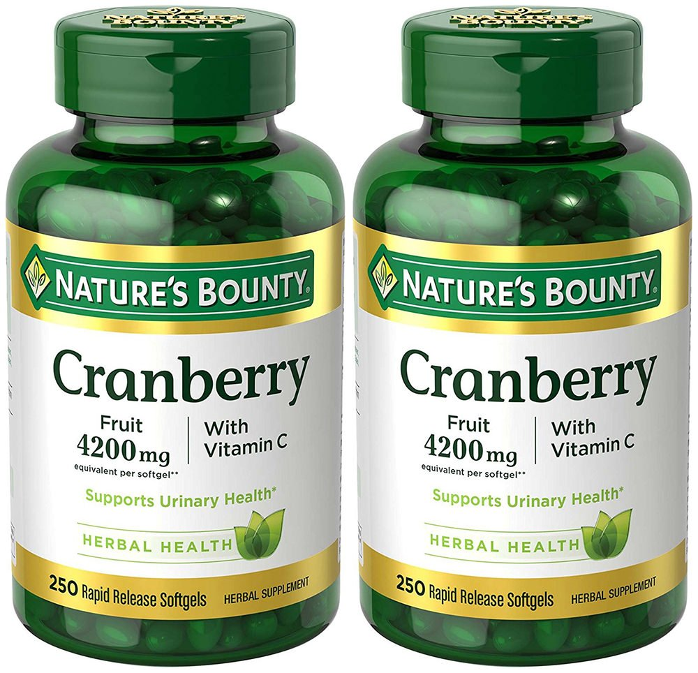 Cranberry with VIT C 4200 mg, 250 Softgels (2 Bottles) by Nature's Bounty (Image #1)