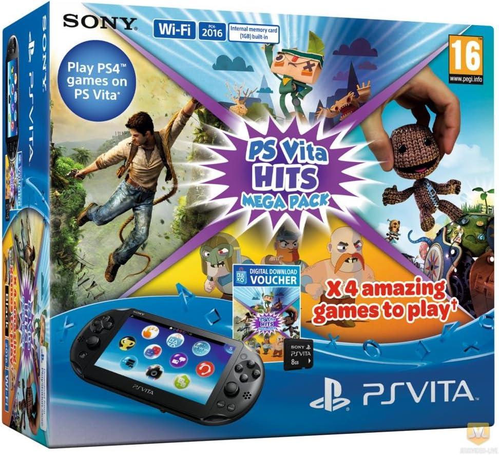 Console Playstation Vita + Hits Mega Pack + Carte Mémoire 8 Go ...