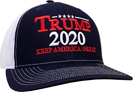 President Donald Trump 2020 Keep America Great Embroidered Trucker Hat Cap Mesh Back