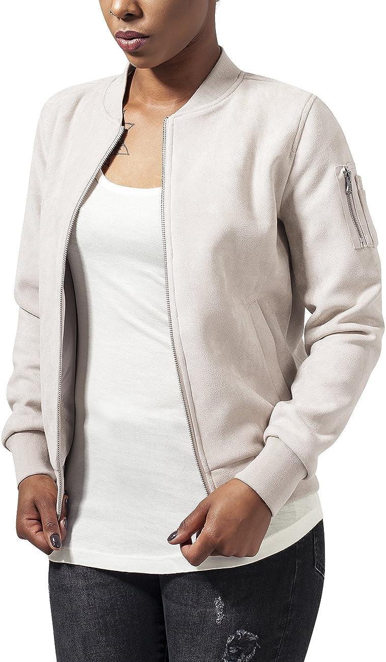 TALLA 36. Urban Classics Ladies Imitation Suede Bomber Jacket Chaqueta para Mujer