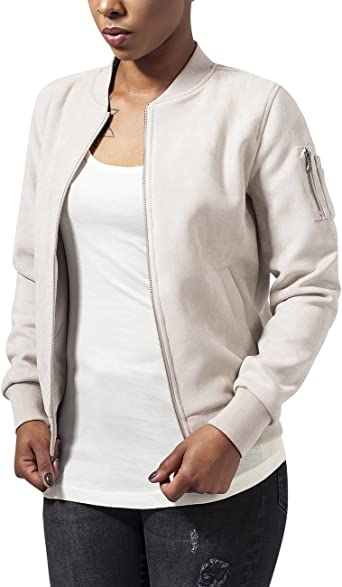 TALLA XS. Urban Classics Ladies Imitation Suede Bomber Jacket Chaqueta para Mujer