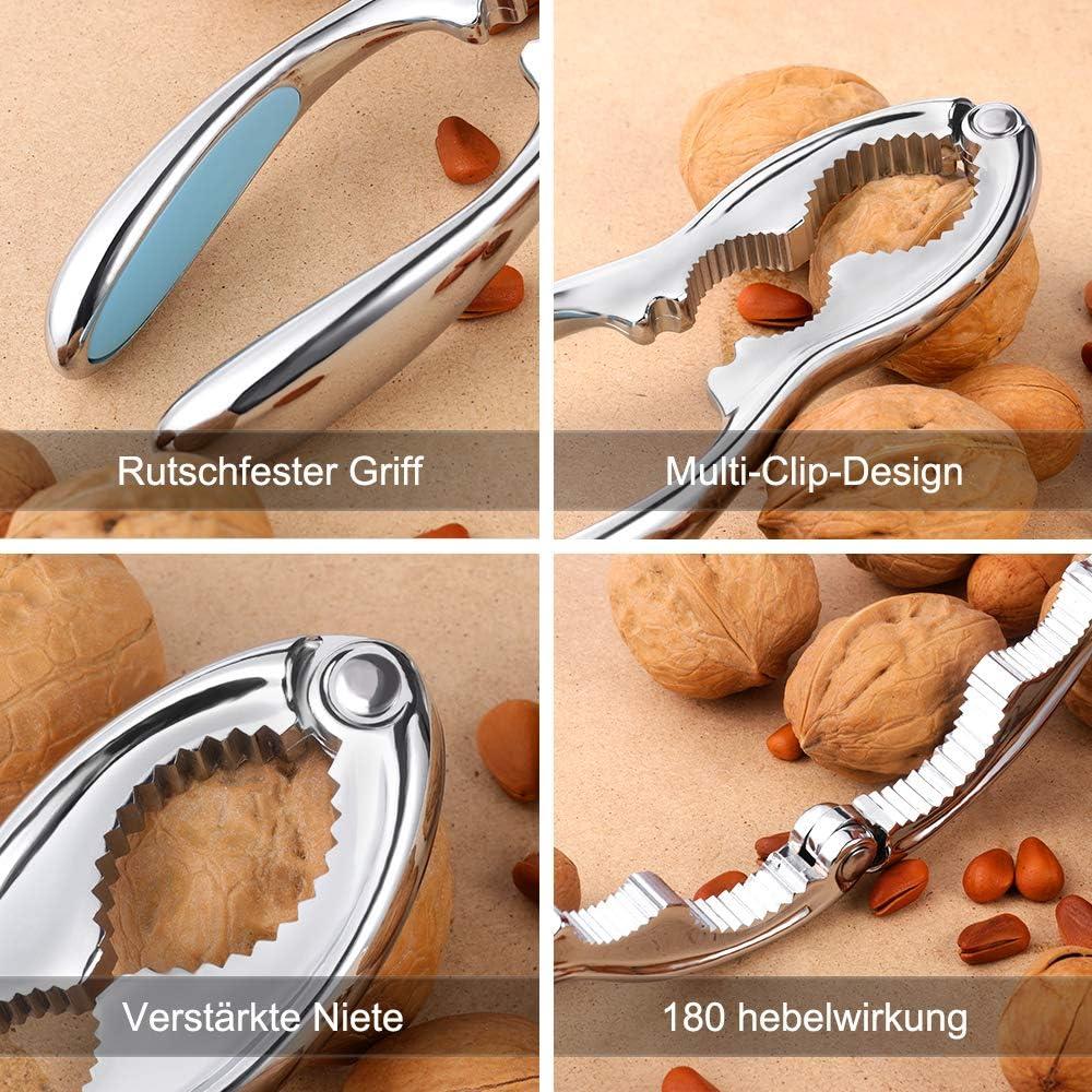 rot Nussknacker Nussknacker Walnussknacker Hochleistungsschalencracker Meeresfr/üchtecracker Walnuss/öffner-Werkzeug