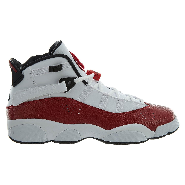 b5d88646eff81 Nike 323419-120: Jordan 6 Rings White/Black Gym Red Sneakers (6 M US Big  Kid)