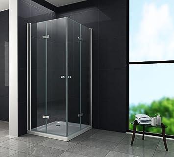Falttür Duschkabine 8 mm Duschabtrennung Eckeinstieg Dusche Echt ...