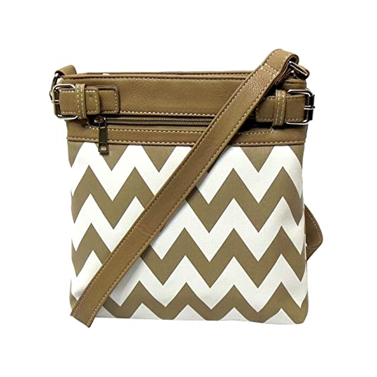 Chevron Crossbody Faux Leather Gun Concealment Bag