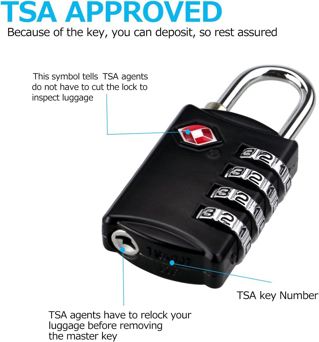 Mini Valise /à Bagages TSA Serrure Cadran Chiffre num/éro Code Combinaison Cadenas s/écurit/é Voyage s/écurit/é Mot de Passe serrures