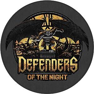 Defenders of The Night Gargoyles Indoor Outdoor Rug Round 6060cm Front Door Mat Waterproof, Non Slip Washable Quickly Absorb Moisture and Resist Dirt Rugs for Entryway