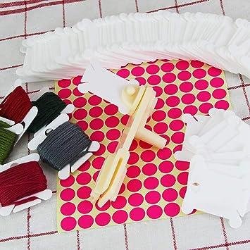 Healifty 200 st/ücke stickgarn spulen kreuzstich glasschlacke Handwerk Gewinde lagerung Halter Stich n/ähen Werkzeuge