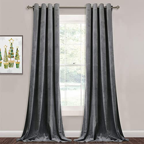 Extra Long Velvet Curtain Panel