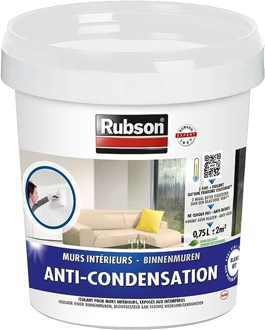 Rubson Revêtement Anti Condensation Peinture Acrylique Anti Humidité Anti Tâches Anti Cloques Peinture Lessivable Isolante Pour Murs Humides