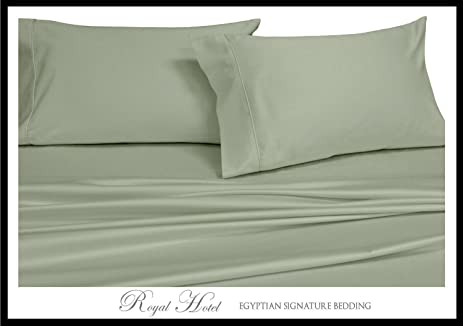 Royalu0027s Solid Sage 600 Thread Count 4pc King Waterbed Sheets 100 Percent