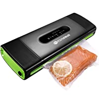 Vacuum Sealer Machine, Food Saver Vacuum Sealer Machine for Food Preservation Dry & Moist Food Modes Food Saver with Starter Kit Built-in Cutter&Marker