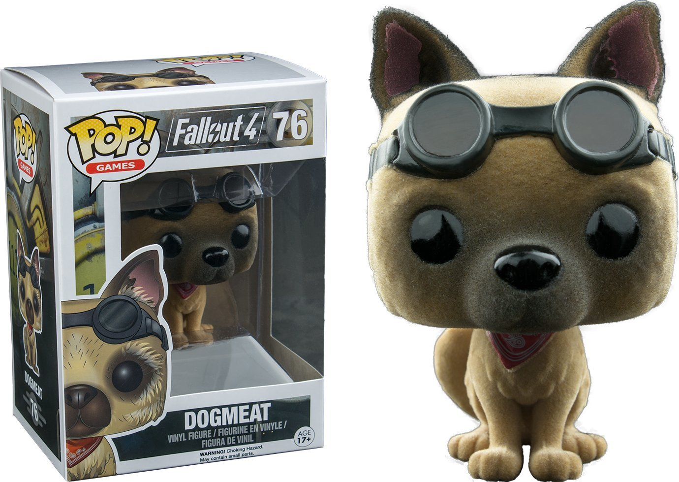 Pop  Games Fallout 4 Vinyl Figure Dogmeat  76 EB Games   Gamestop Exclusive Flocked, Fuzzy