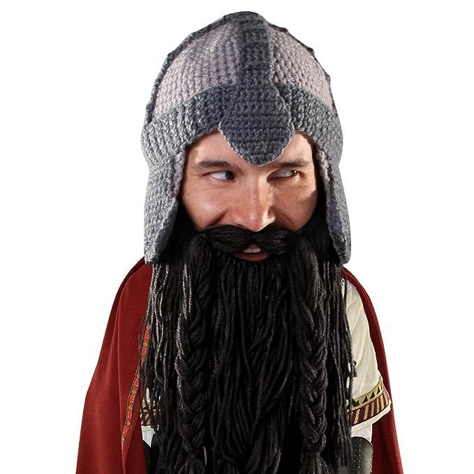 3c521115a Beard Head Dwarf Warrior Beard Beanie - Epic Knit Dwarf Helmet and Fake  Beard