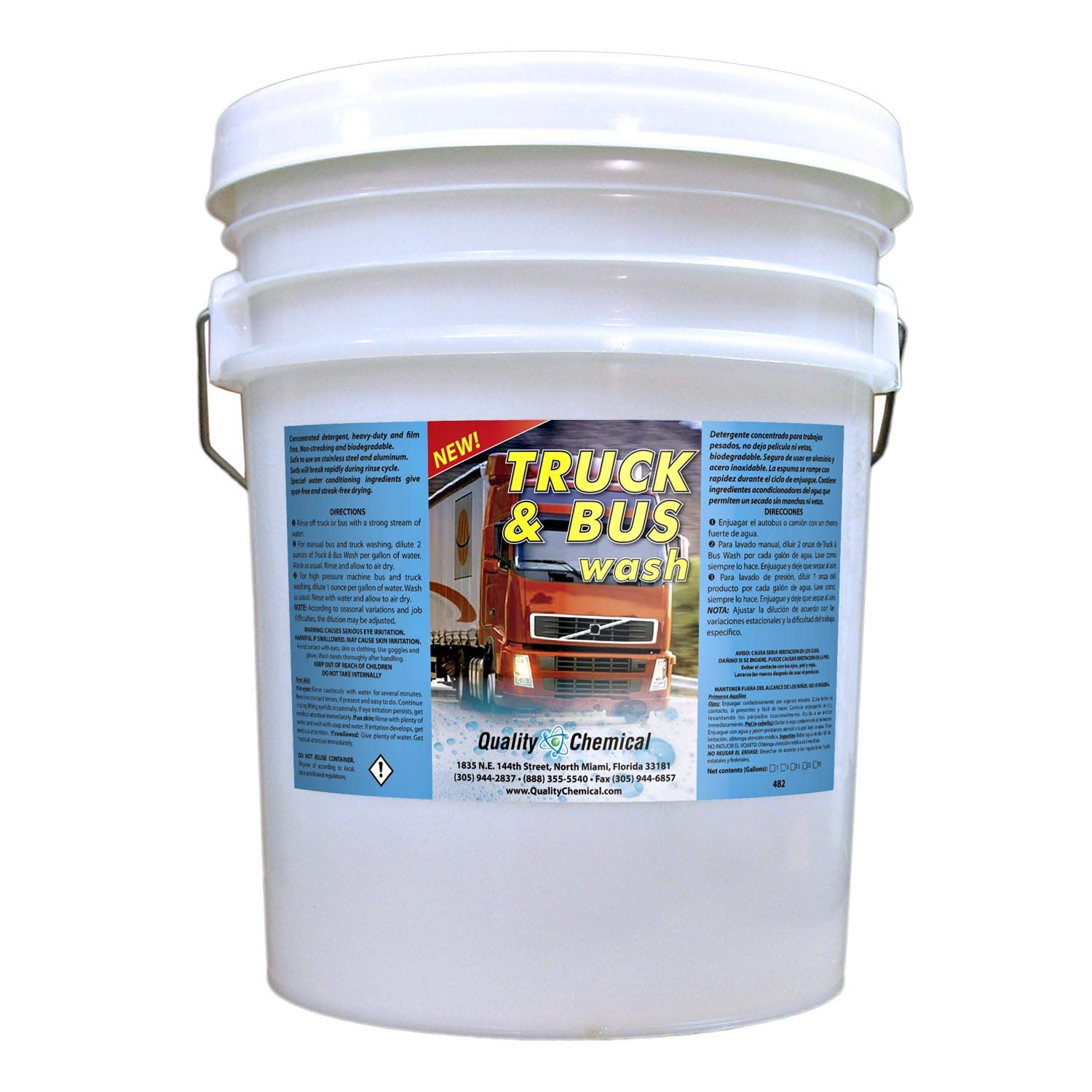 Truck & Bus Wash: Heavy-duty industrial strength, super-foaming, grease-cutting cleaner and degreaser-5 gallon pail