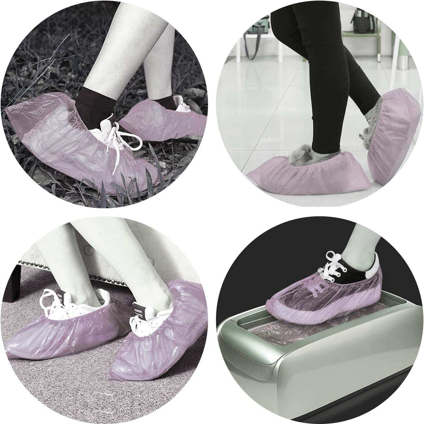 mini8 Shoe Covers Disposable 100 Pack(50 Pairs) Disposable Shoe /& Boot Covers Waterproof Slip Resistant Shoe Booties