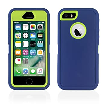 Carcasa iPhone 5, 5S, funda híbrida antigolpes para iPhone 5 ...