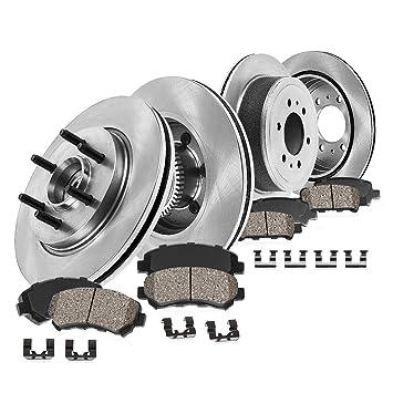 Rear 348 mm 6 Lug Brake Rotors For Ford F150 Lincoln Mark LT 4X4 4WD 2WD
