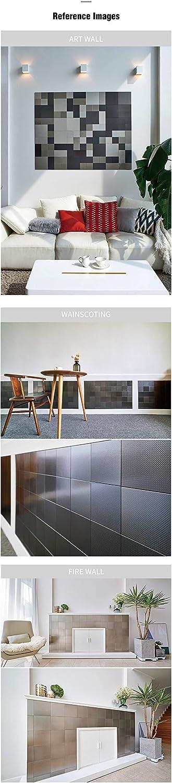 3.9 x 7.8 inch, Redish Bronze Ver Block Peel and Stick Design Stainless Steel DIY Interior Tile 20PCS