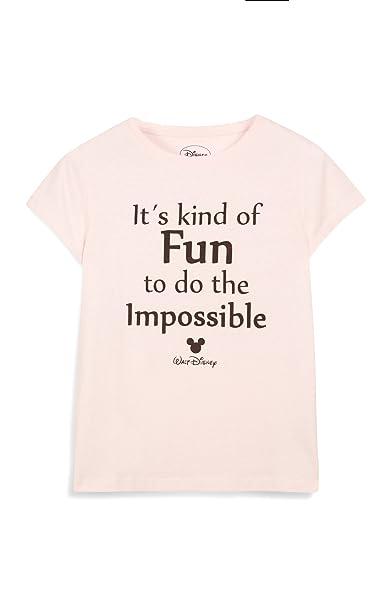 DISNEY BY PRIMARK - Camiseta - para mujer Rosa rosa claro: Amazon.es: Ropa y accesorios