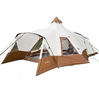 Ist ein Zelt ausreichend groß, können Sie darin sogar aufrecht stehen.