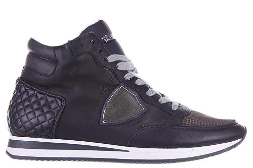 Model Sneakers Nero Scarpe it In Nuove Tropez Quilt Uomo Amazon E Pelle Alte Borse Philippe wfqExdnCw