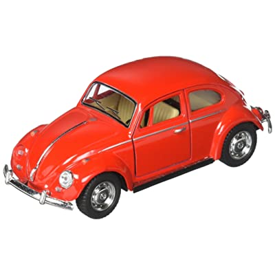 "5"" Classic 1967 Volkswagen Beetle 1:32 Scale (Red) by Kinsmart: Toys & Games"