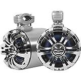 Rockville WB65 2 x 6.5 600w Metal Marine Wakeboar.d Tower Speakers+Swivel Brackets, 2 Pack