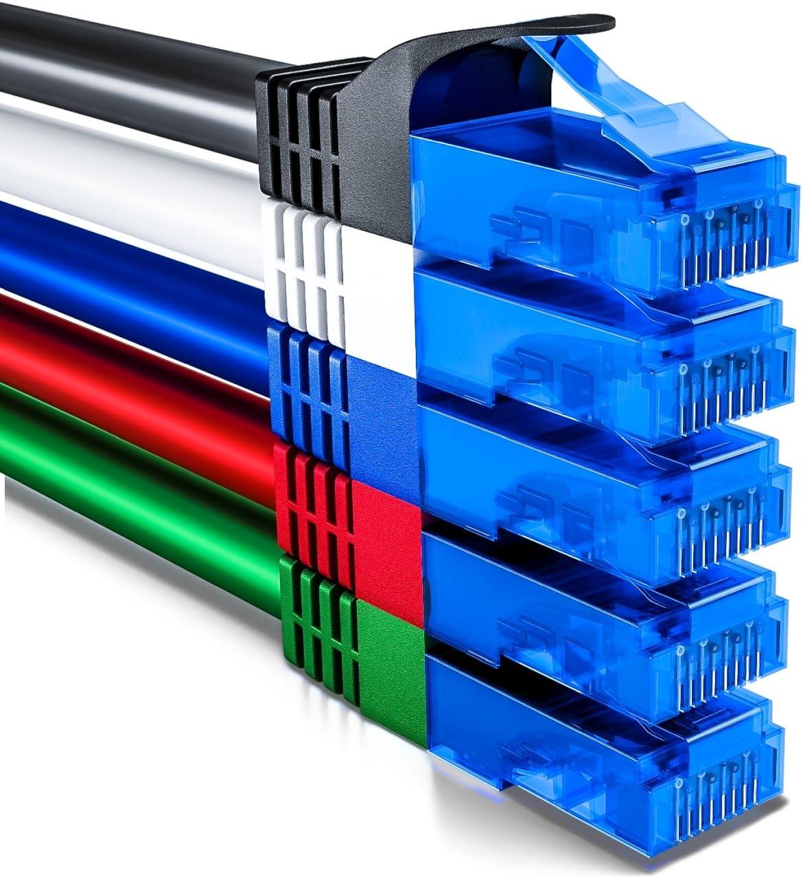 Deleycon 5x 0 5m Cat6 Netzwerkkabel Set U Utp Rj45 Cat 6 Lan Kabel Patchkabel Ethernetkabel