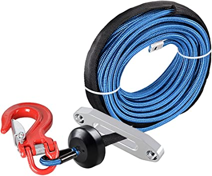 Hawse Fairlead for Car ATV UTV Jeep Ramsey KFI 1pc 50 x 1//4 RED Rock Protection and All Heat Guard Synthetic Winch Rope Cable 7000LBS w//Rubber Stopper Astra Depot