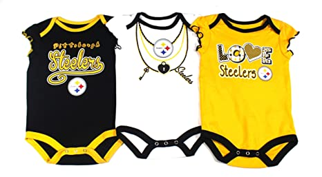 Amazon.com  Knights Apparel Pittsburgh Steelers 3 Pack Bodysuits ... fa7253d8f